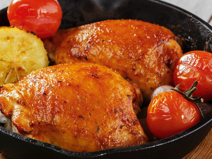 Photo of Chicken Thigh cooked with Pantelligent's smart frying pan