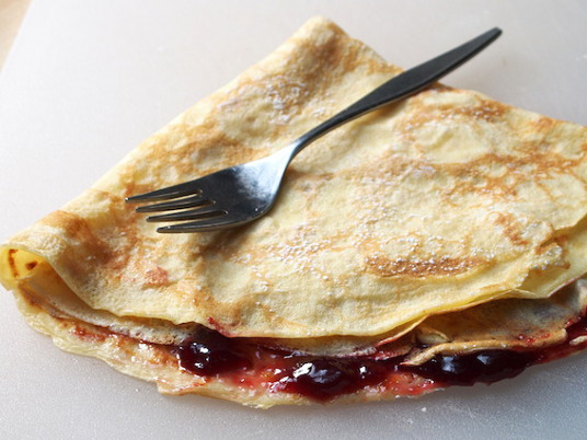 Photo of Crepes cooked with Pantelligent's smart frying pan