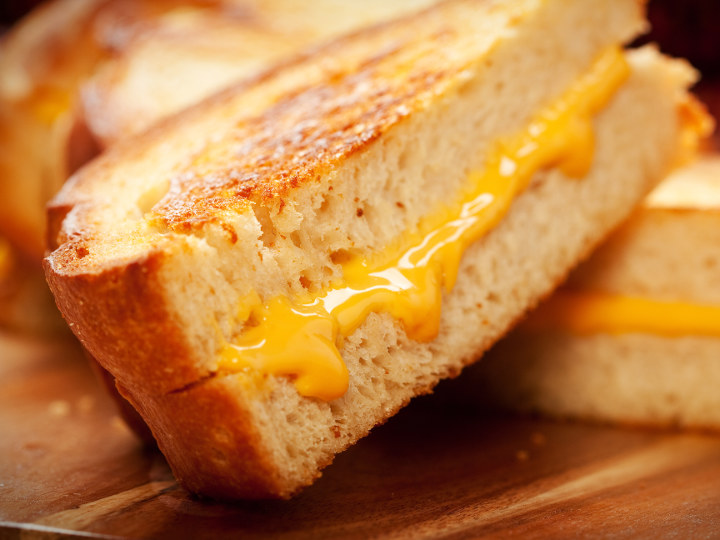 Photo of Grilled Cheese cooked with Pantelligent's smart frying pan