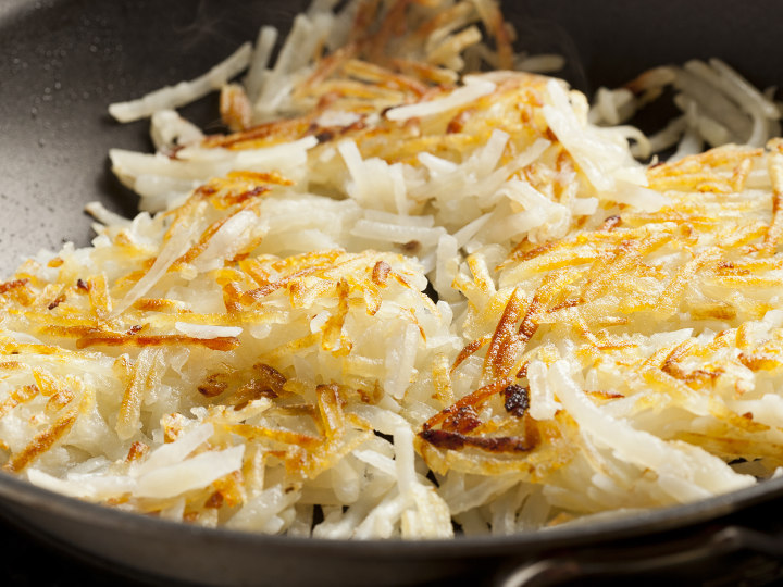 Photo of Hash Browns cooked with Pantelligent's smart frying pan