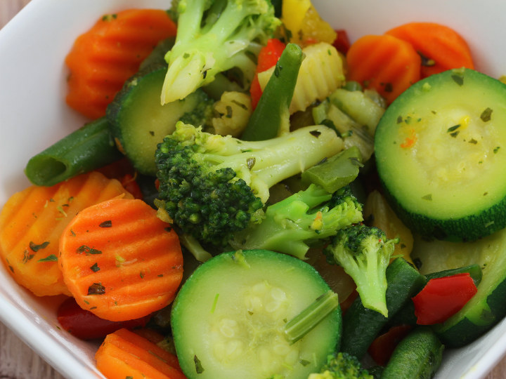 Photo of Mixed Vegetables cooked with Pantelligent's smart frying pan