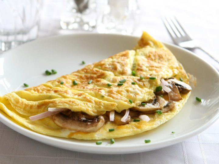 Photo of Omelette cooked with Pantelligent's smart frying pan