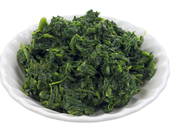 Photo of Spinach cooked with Pantelligent's smart frying pan