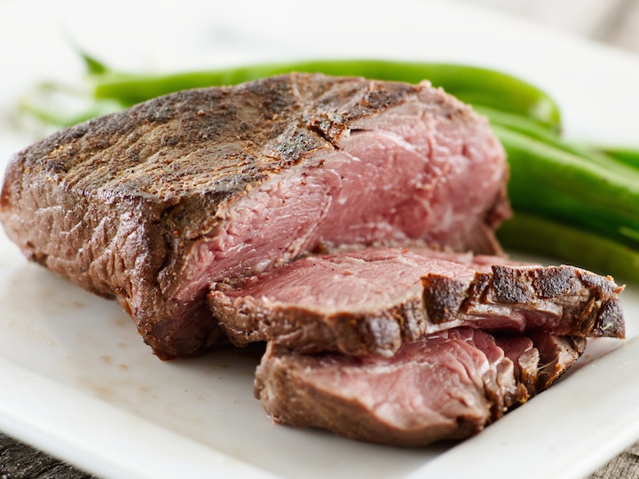 Photo of Steak cooked with Pantelligent's smart frying pan